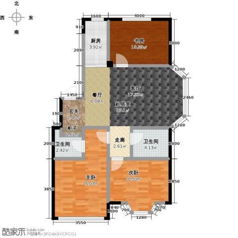 颐莲家园3室0厅2卫1厨106.00㎡户型图