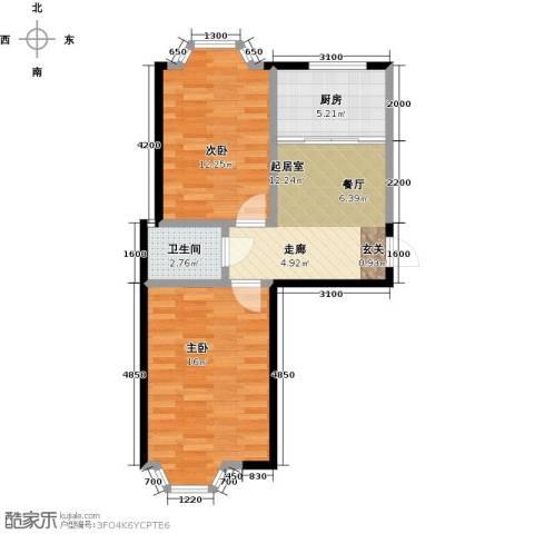 颐莲家园2室0厅1卫1厨69.00㎡户型图
