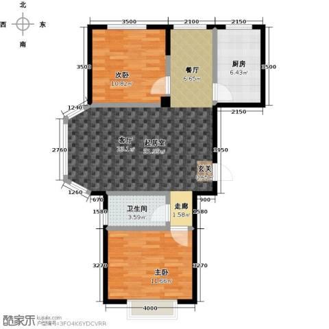 颐莲家园2室0厅1卫1厨89.00㎡户型图