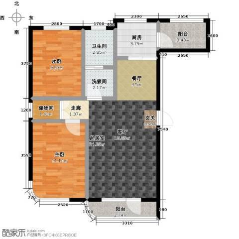 慧谷阳光2室0厅1卫1厨89.00㎡户型图
