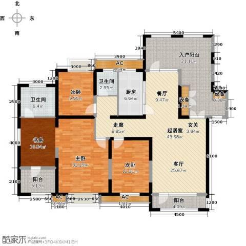 金地长青湾3室0厅2卫1厨172.85㎡户型图