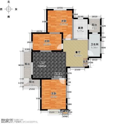 新兴北京郡3室0厅1卫1厨114.00㎡户型图