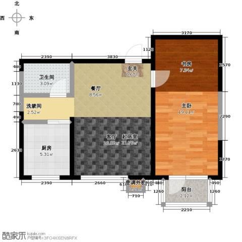 新兴北京郡1室0厅1卫1厨68.00㎡户型图