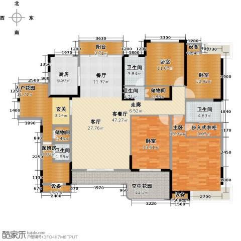 学府港湾1室1厅3卫1厨182.00㎡户型图
