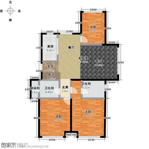 华发新城3室0厅2卫1厨145.00㎡户型图