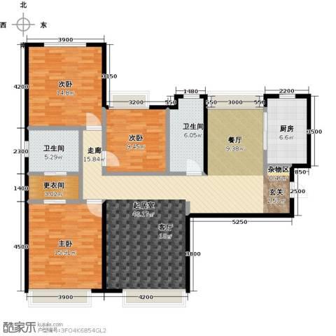 华发新城3室0厅2卫1厨150.00㎡户型图