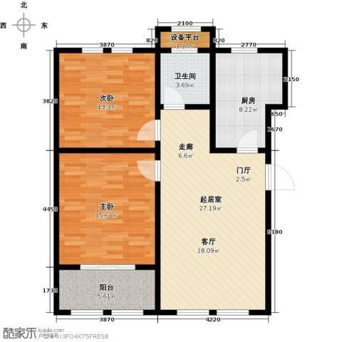 明佳花园2室0厅1卫1厨105.00㎡户型图