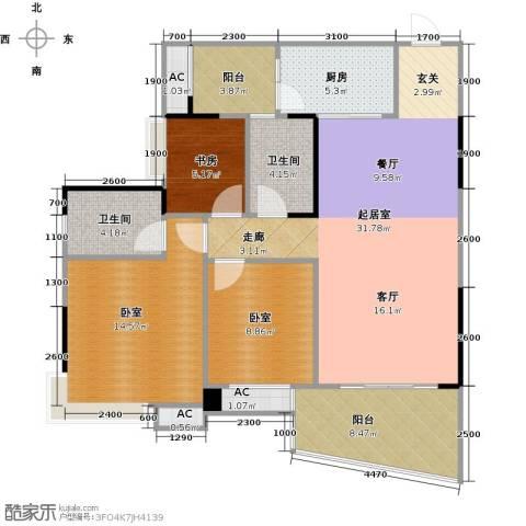 碧桂园・天玺湾1室0厅2卫1厨121.00㎡户型图