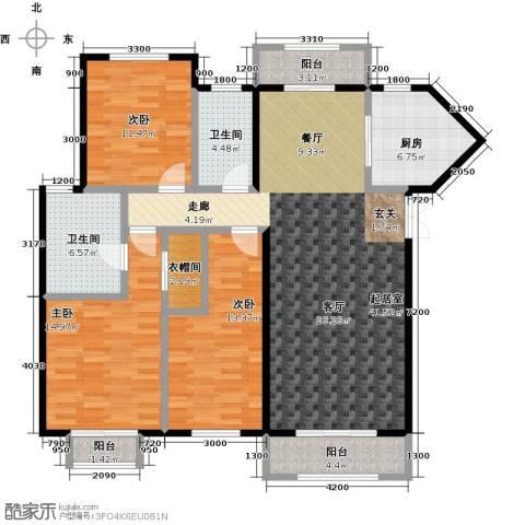 众益万国宫馆3室0厅2卫1厨153.00㎡户型图