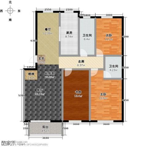城南公馆3室0厅2卫1厨155.00㎡户型图