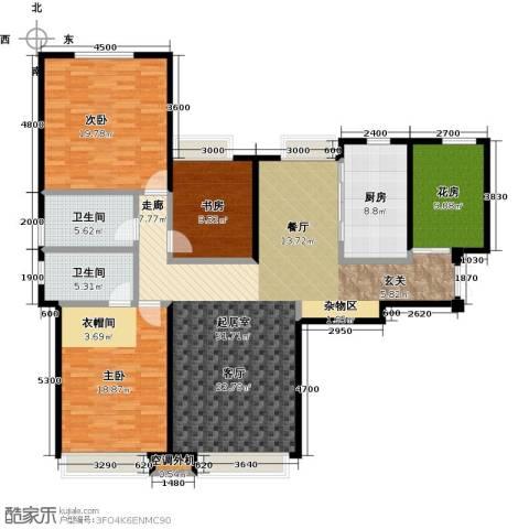 华发新城3室0厅2卫1厨174.00㎡户型图