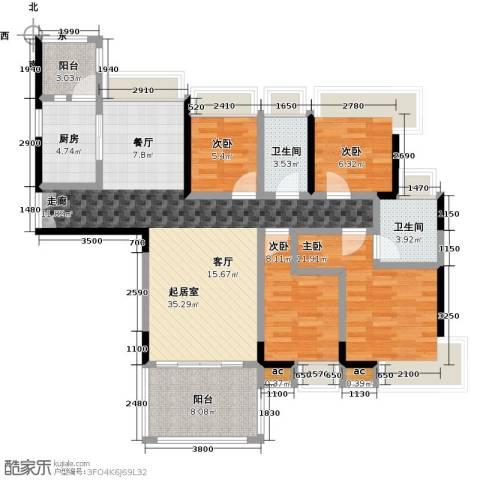丽景名筑4室0厅2卫1厨132.00㎡户型图