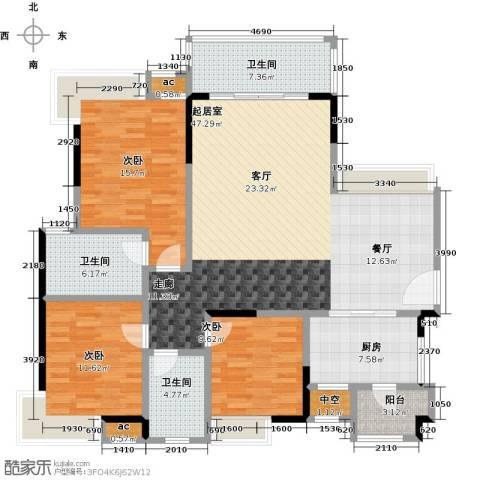 丽景名筑3室0厅3卫1厨121.00㎡户型图