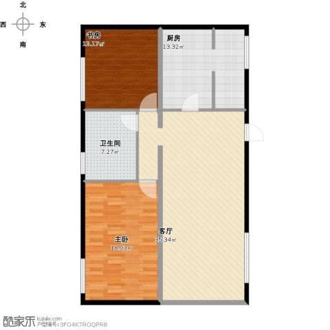 顶秀美泉小镇2室1厅1卫1厨118.00㎡户型图