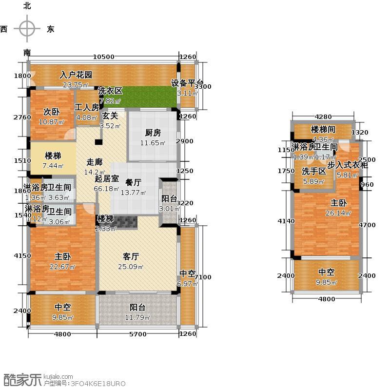金湖翡翠谷229.61㎡3栋12号C1型户型4室2厅3卫