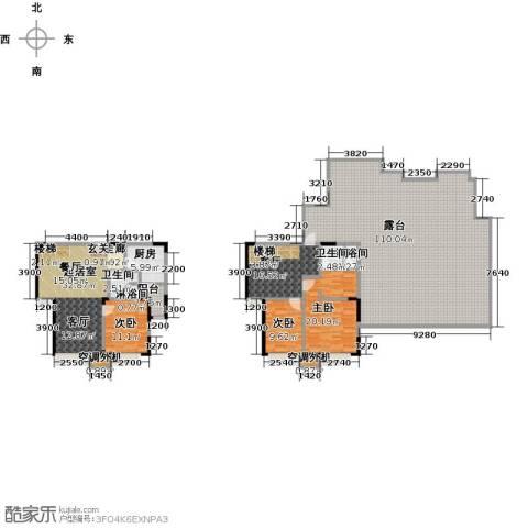 华发新城3室1厅2卫1厨217.85㎡户型图
