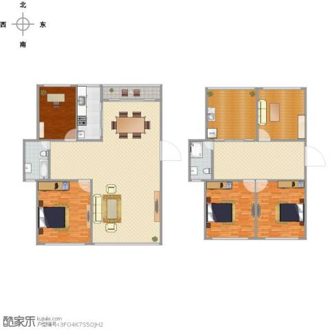 都市桃源别墅4室1厅2卫1厨289.00㎡户型图