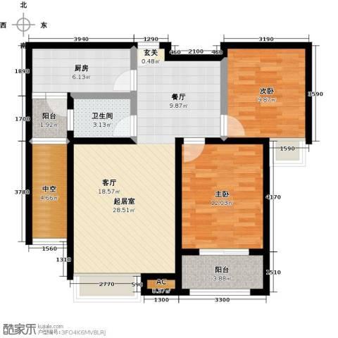 科达府左华苑2室0厅1卫1厨97.00㎡户型图