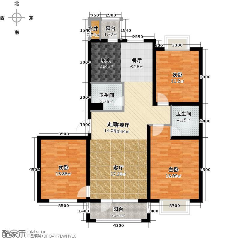 新发翡翠花溪户型3室1厅2卫