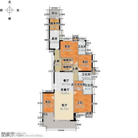 富力公园284室1厅3卫1厨273.00㎡户型图