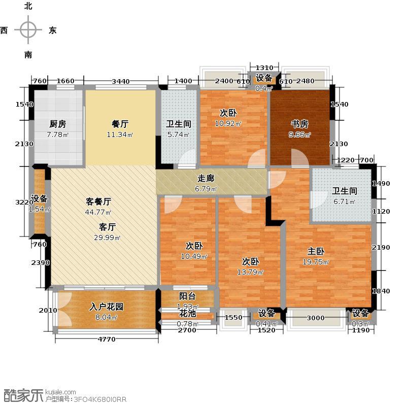 睿山A栋02单位半山静邸户型5室1厅2卫1厨