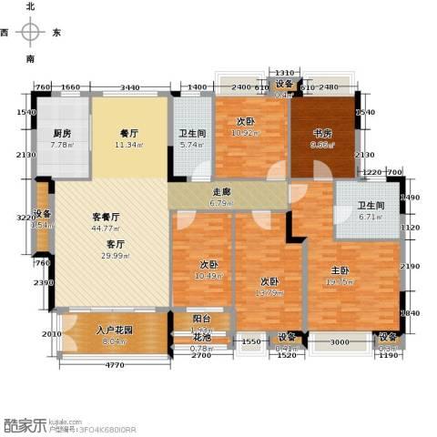 睿山5室1厅2卫1厨170.00㎡户型图