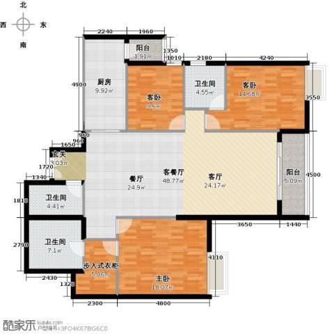 富力公园283室1厅3卫1厨185.00㎡户型图