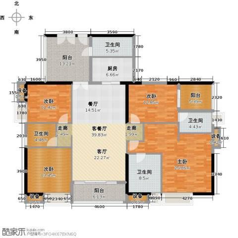 富力公园284室1厅4卫1厨215.00㎡户型图