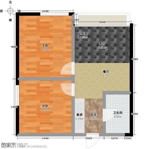 万瑞达国际公馆2室0厅1卫0厨56.00㎡户型图