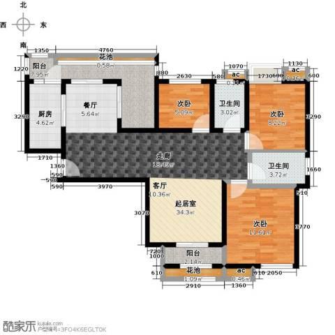 比克橄榄湾3室0厅2卫1厨150.00㎡户型图