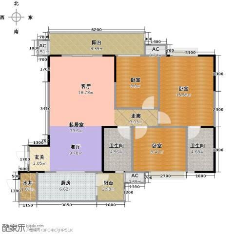 碧桂园・天玺湾2卫1厨134.00㎡户型图