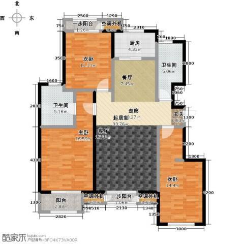 天承锦绣3室0厅2卫1厨131.00㎡户型图