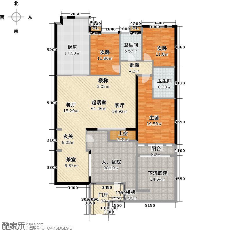 阳光尚城162.50㎡四期三室二厅二卫户型3室2厅2卫QQ