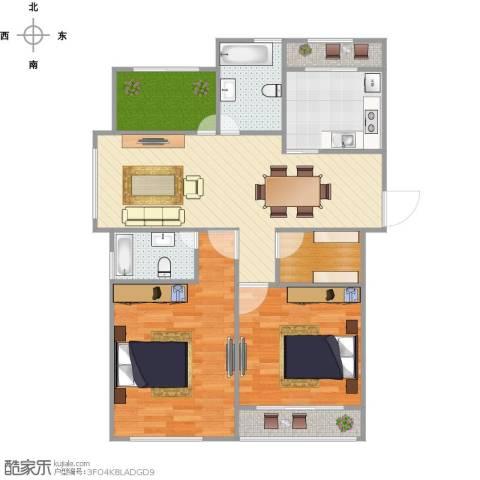 九龙仓时代上院别墅2室1厅2卫1厨103.00㎡户型图