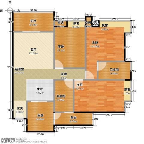 广弘天琪3室0厅2卫1厨127.00㎡户型图