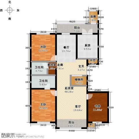 大正莅江3室0厅2卫1厨180.00㎡户型图