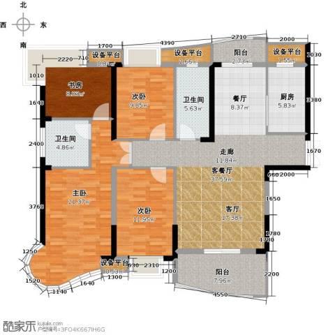 南昌铜锣湾广场4室1厅2卫1厨153.00㎡户型图