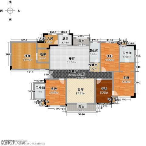 新地阿尔法国际社区4室1厅3卫1厨189.00㎡户型图