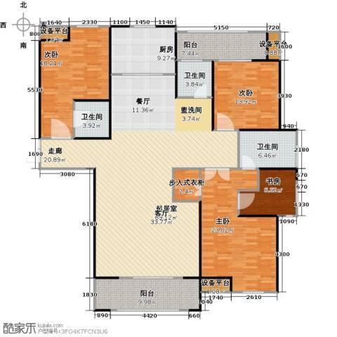 财信圣堤亚纳4室0厅3卫1厨190.00㎡户型图