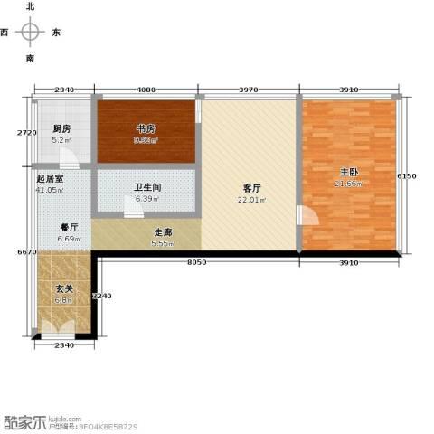C-PARK西派国际公寓2室0厅1卫1厨137.00㎡户型图