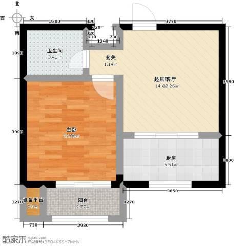 美树日记1室0厅1卫1厨58.00㎡户型图
