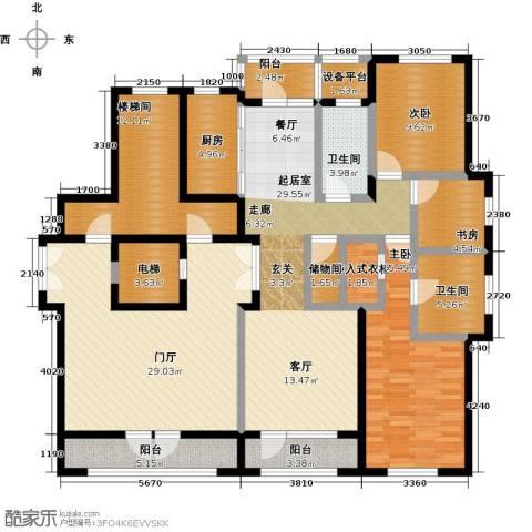 保亿丽景山3室0厅2卫1厨160.00㎡户型图