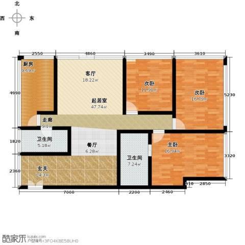 C-PARK西派国际公寓3室0厅2卫1厨185.00㎡户型图