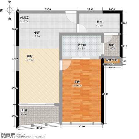 华侨城华寓1室0厅1卫1厨99.00㎡户型图