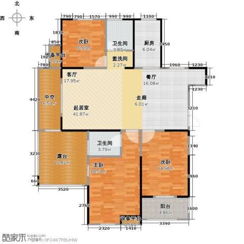 财信圣堤亚纳3室0厅2卫1厨134.00㎡户型图