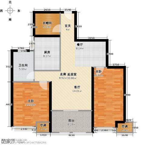 扬州鸿舜御峰2室0厅1卫1厨134.00㎡户型图