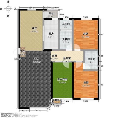 慧谷阳光2室0厅2卫1厨146.00㎡户型图