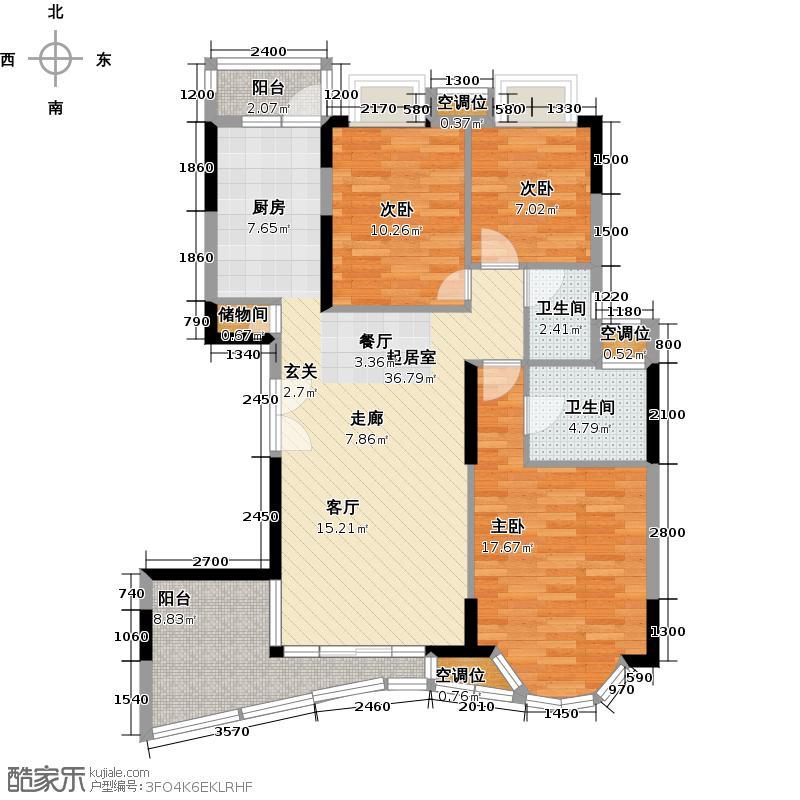 罗马家园凯盛庭C6座-302户型3室2卫