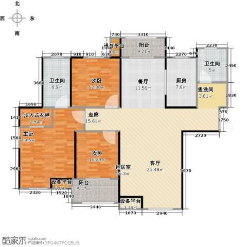 财信圣堤亚纳3室0厅2卫1厨142.00㎡户型图