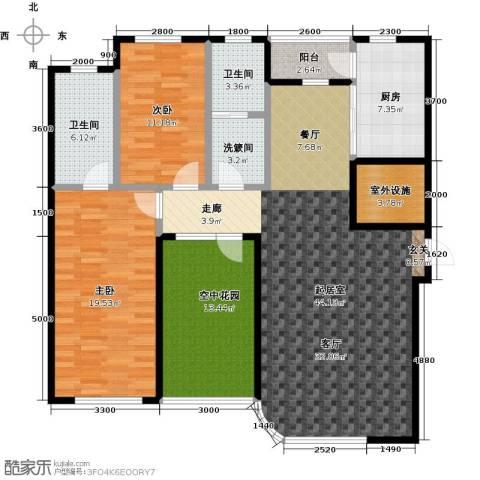 慧谷阳光2室0厅2卫1厨161.00㎡户型图